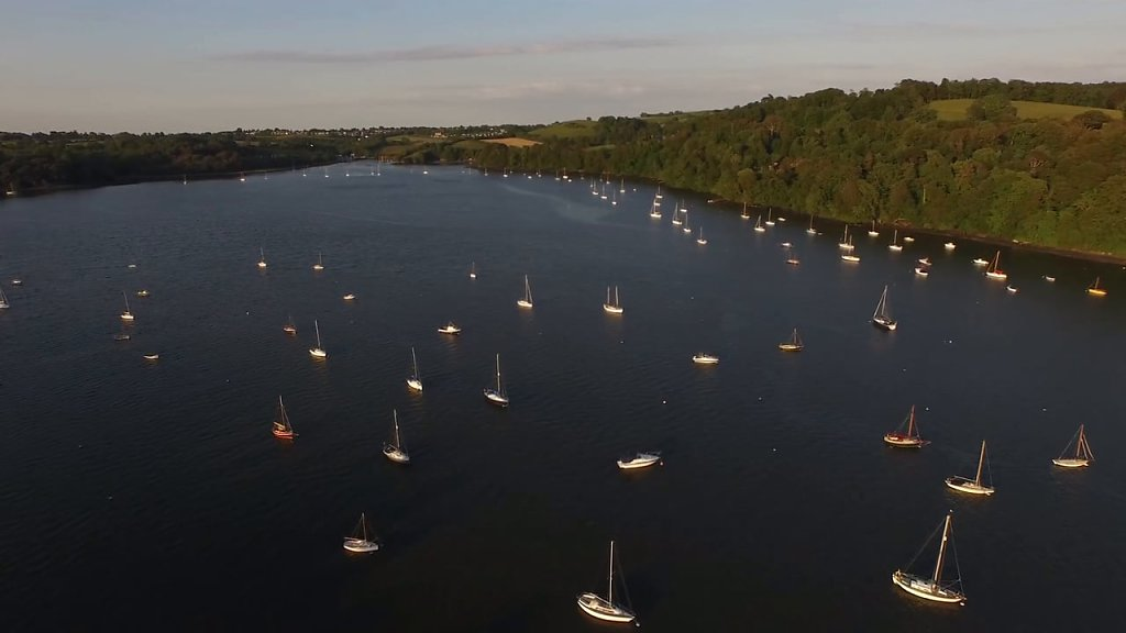 Dittisham  4k Aerial  video clips from drone