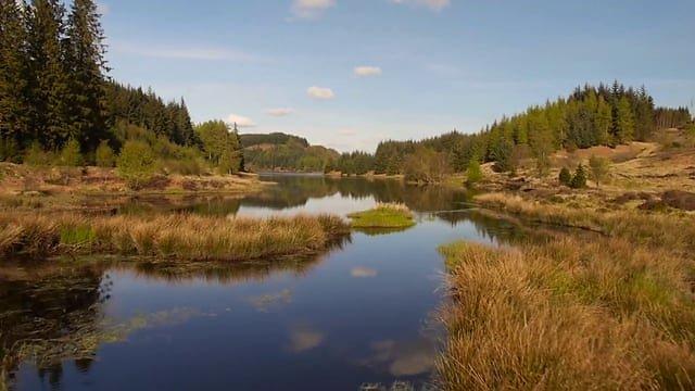 Scottish highlands drone footage